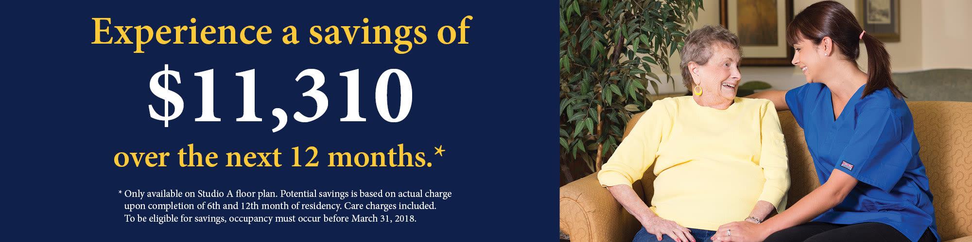 Savings of $11,310