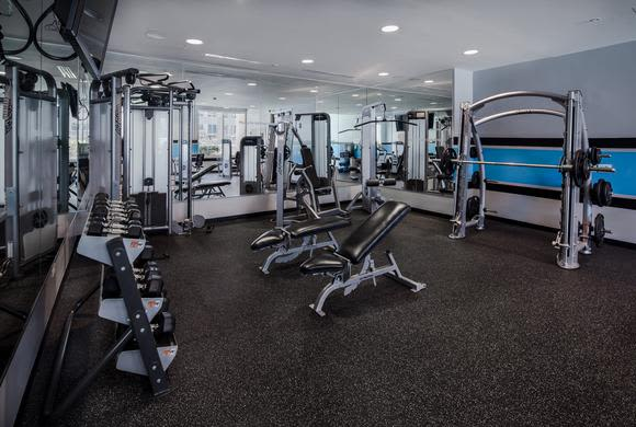 Beautiful fitness center at apartments in Charlotte, North Carolina