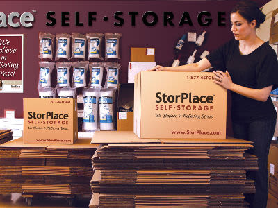Packing supplies available at StorPlace Self-Storage