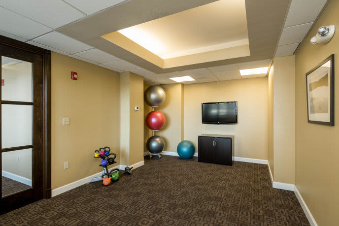 Fitness center at our Towson apartments