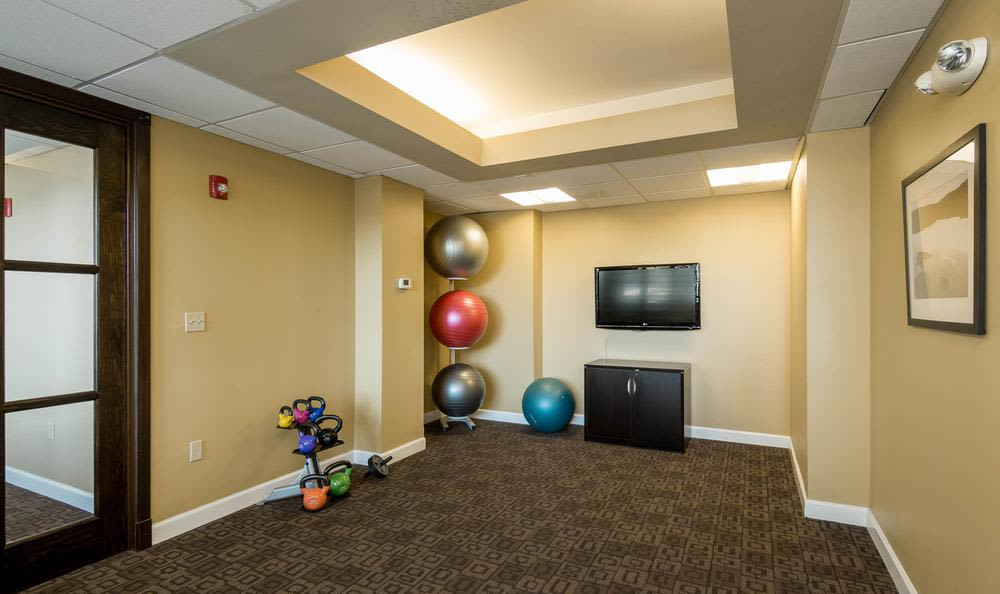Yoga area at our apartments in Towson, MD