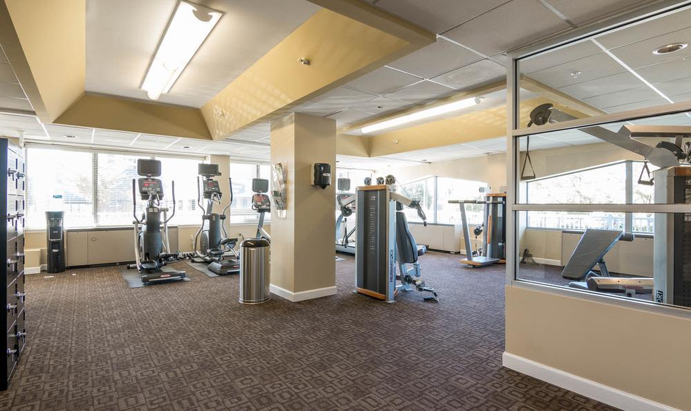 Fitness center at our apartments in Towson, MD