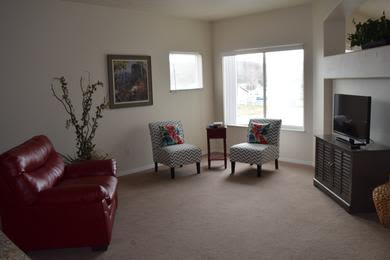 Spacious living room at apartments in Emmett, Idaho
