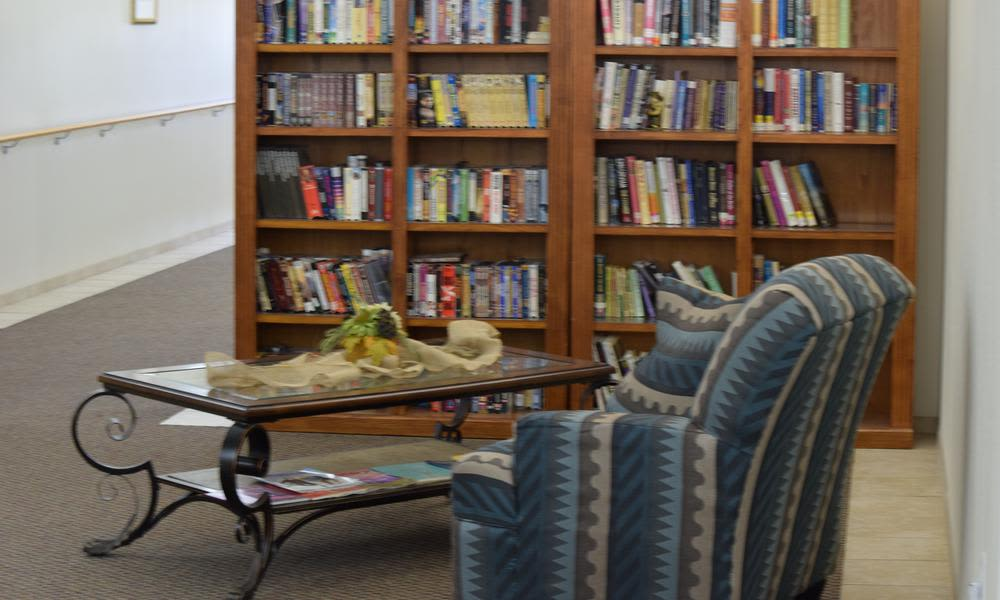 Spacious library at apartments in Emmett, Idaho