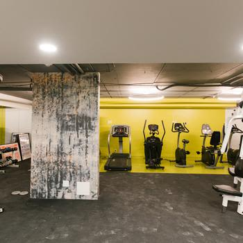 Modern fitness center at Royal View Apartments in Calgary, Alberta