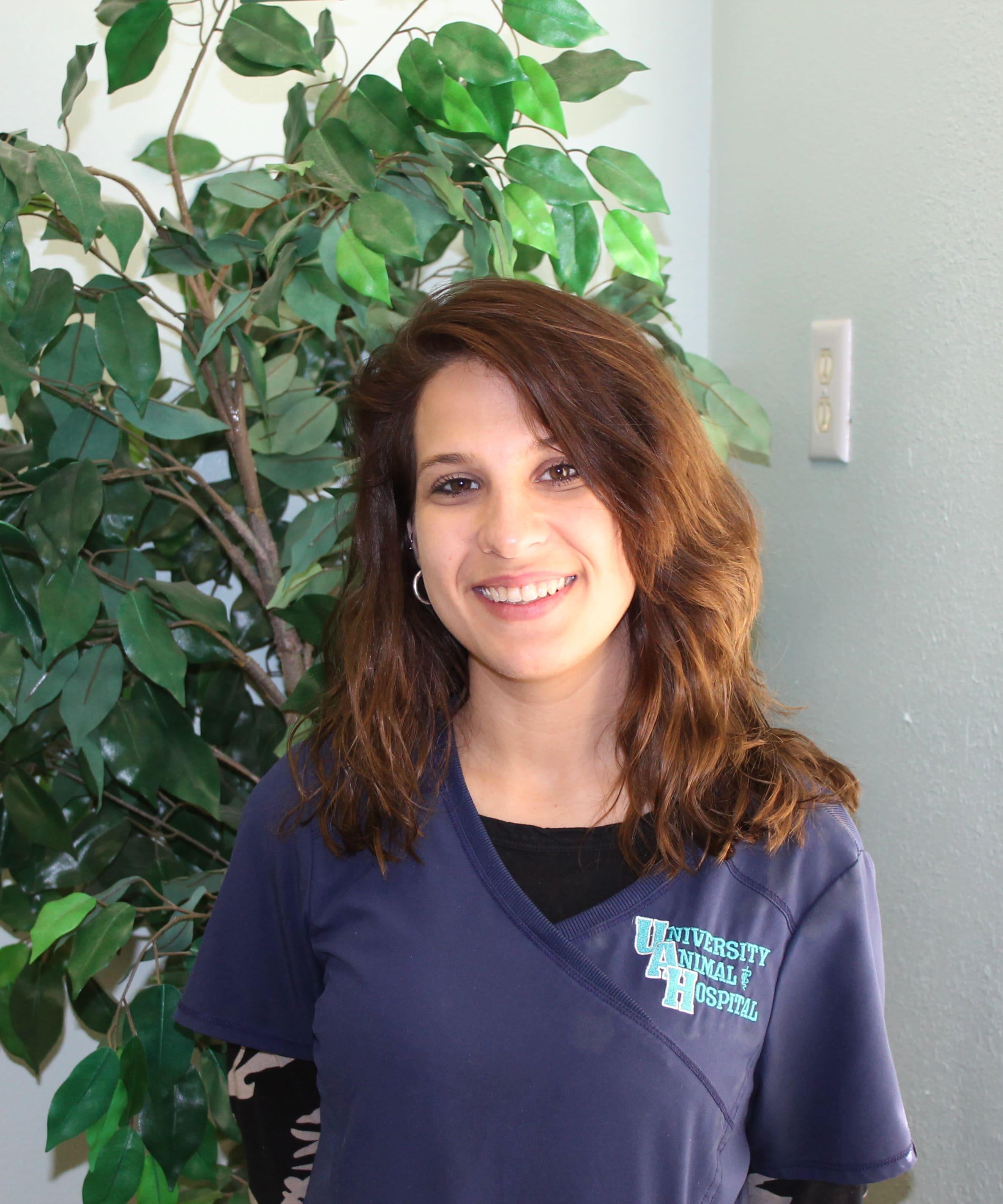 Team member Cayla at University Animal Hospital