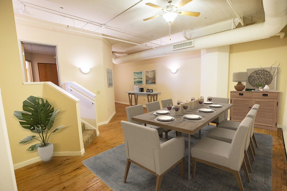 Unique dinning room at apartments in Cleveland, Ohio
