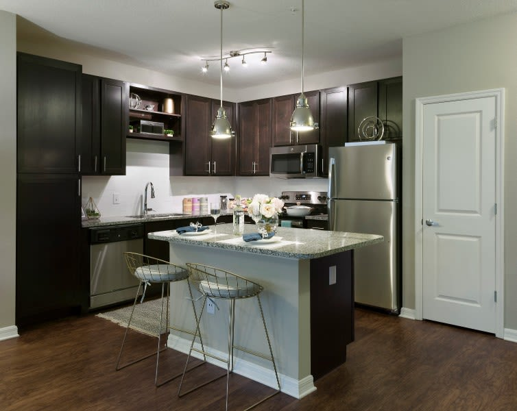 Kitchen at Integra River Run Apartments in Jacksonville, FL