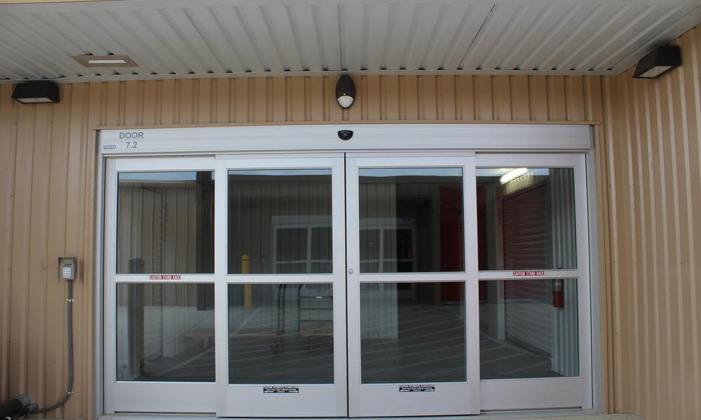 Entrance to the offices at Pflugerville, Texas