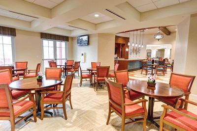 Dining room at Symphony at Stuart in Stuart, Florida.