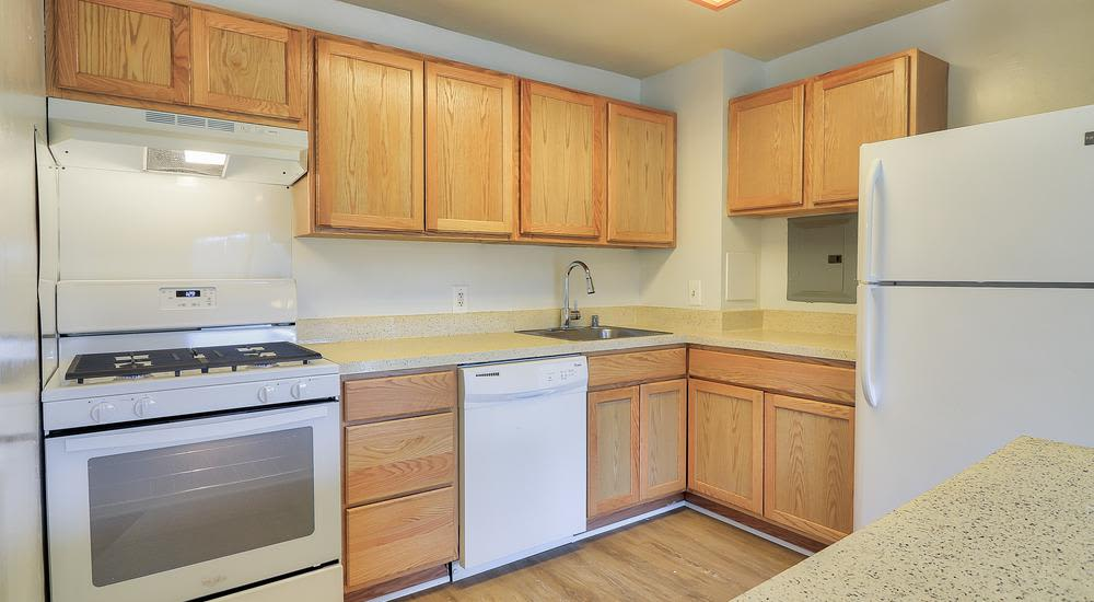 Our apartments in Suitland, Maryland showcase a modern kitchen