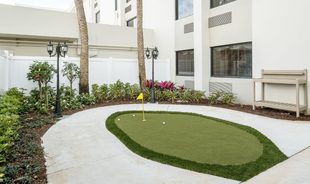 Golf area at Grand Villa of Boynton Beach in Boynton Beach, Florida