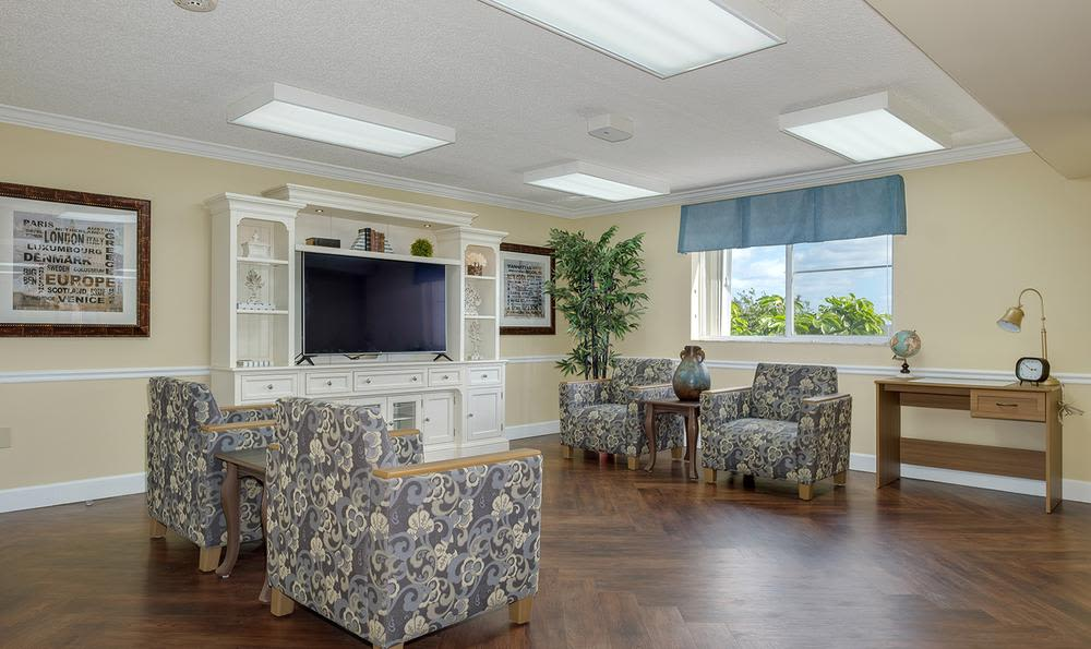 Living Room at Grand Villa of Deerfield Beach