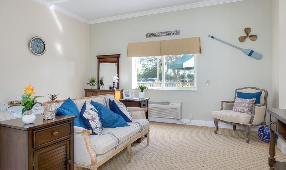 Living room at Grand Villa of Deerfield Beach in Deerfield Beach, Florida