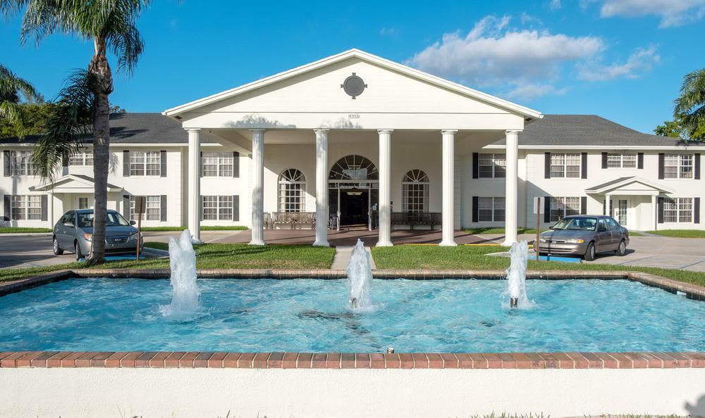 Exterior view of Grand Villa of Delray East in Delray Beach, FL
