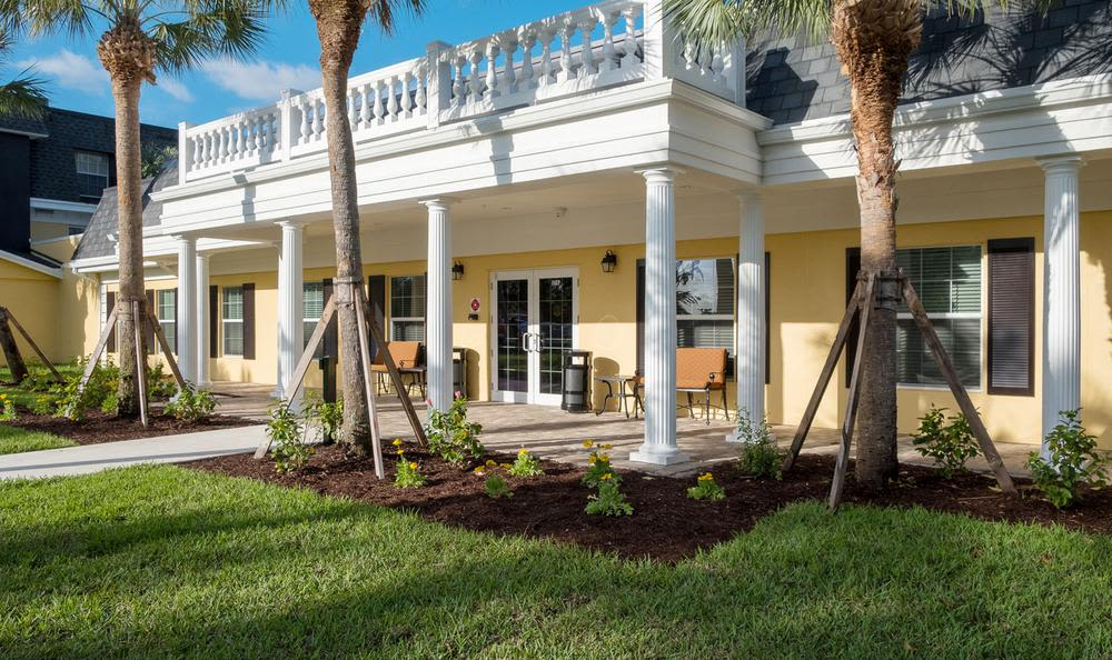 Exterior view of Grand Villa of Delray West in Delray Beach, FL