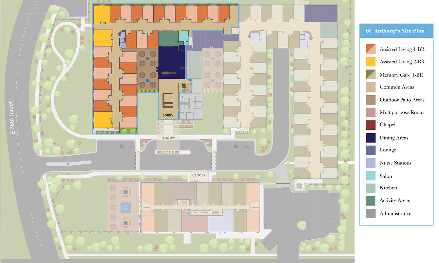 View our Assisted Living site plan