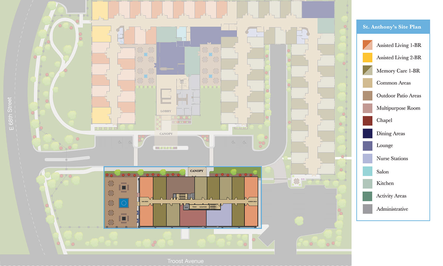 View our Independent Living site plan