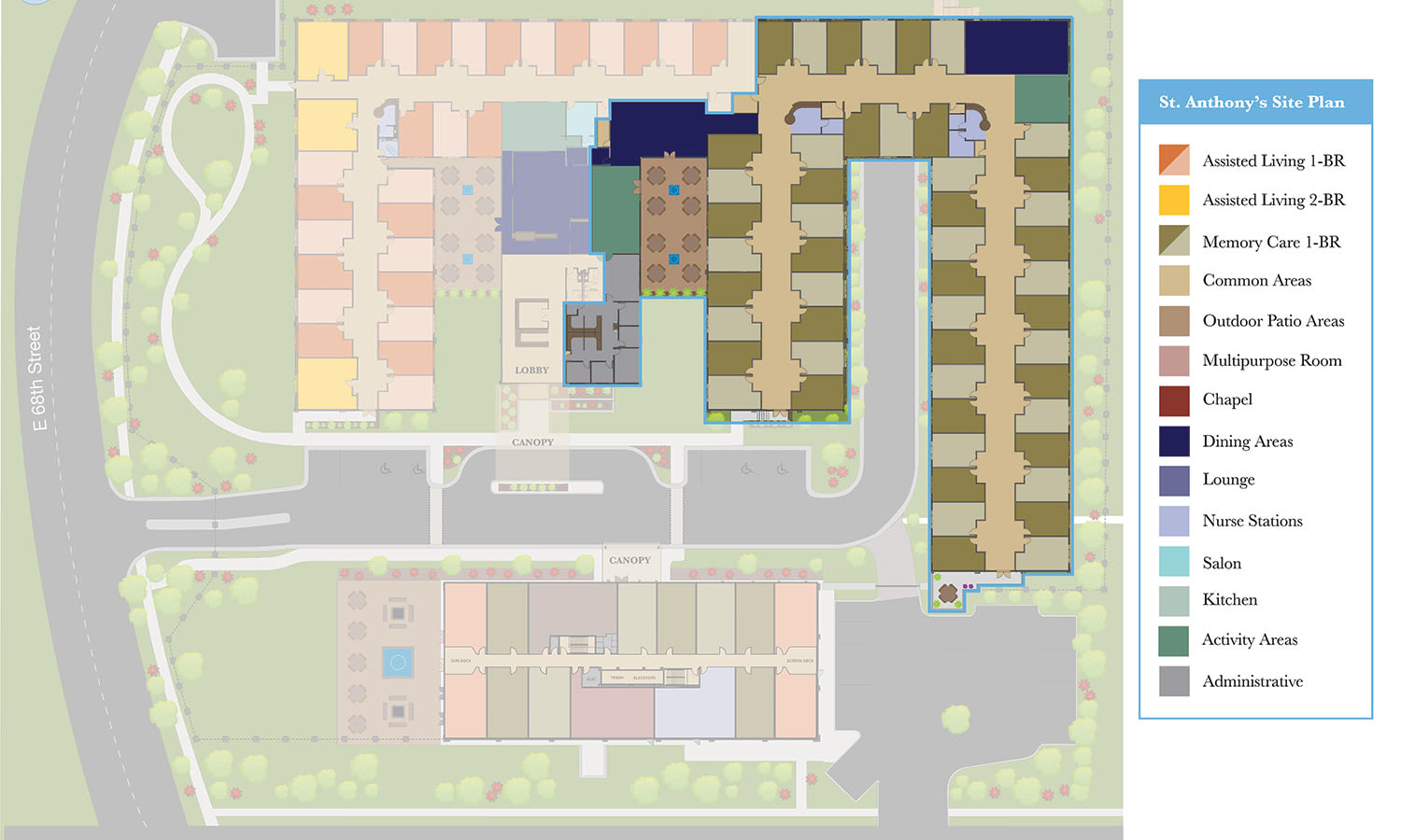 View our Memory Care site plan