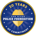San Diego Police Foundation 20 Years of Commitment Logo
