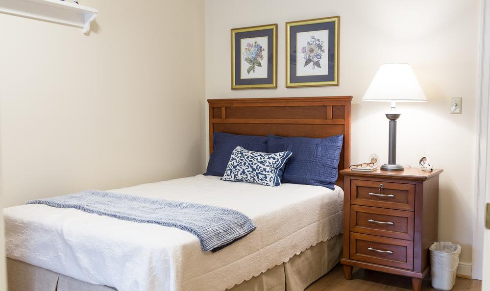 Beautiful bedroom at Artis Senior Living of Princeton Junction