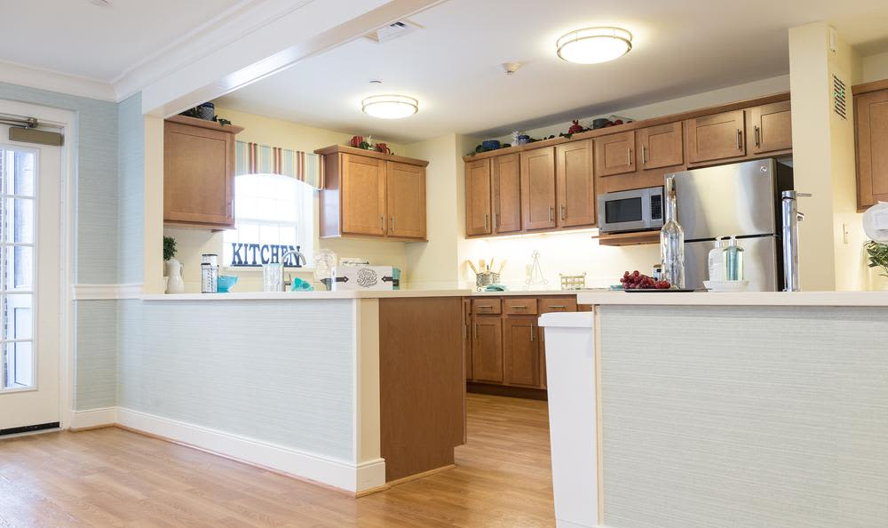 Enjoy our modern kitchen at Artis Senior Living of Princeton Junction in Princeton, Artis Senior Living of Princeton Junction