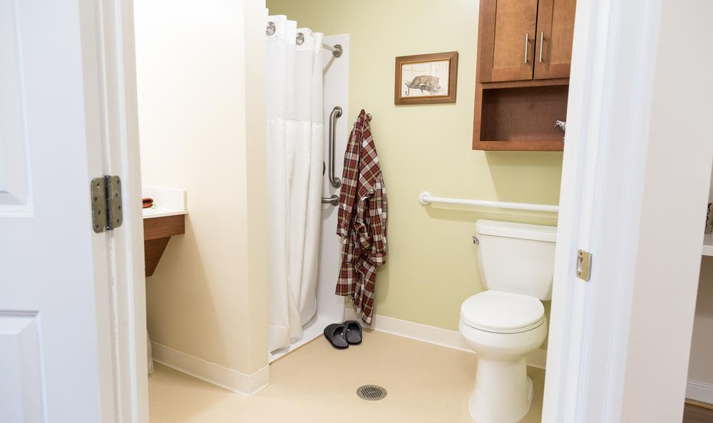 Comfortable bathroom at Artis Senior Living of Princeton Junction