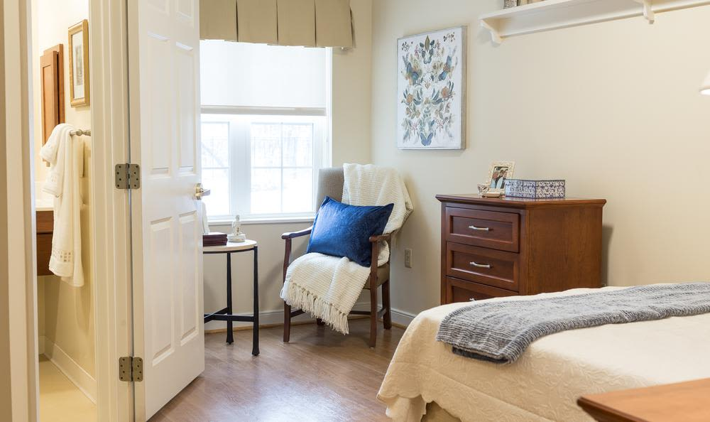 Enjoy a unique bedroom at Artis Senior Living of Princeton Junction