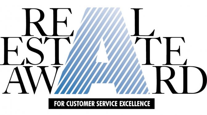 Real Estate Award for Customer Service Excellence