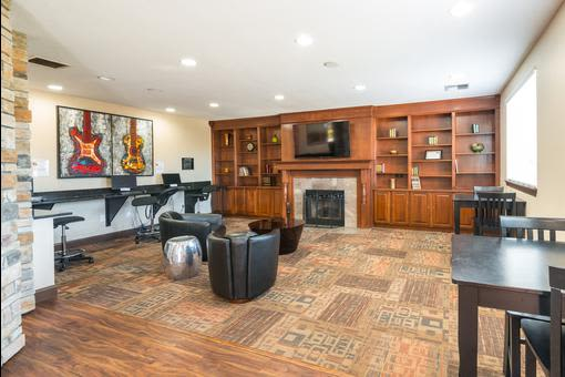 Interior of leasing office at Village at Seeley Lake in Lakewood, Washington