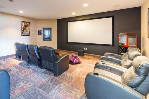Theater room at Village at Seeley Lake in Lakewood, Washington
