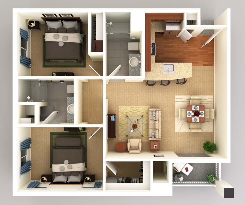AL Two Bed 1