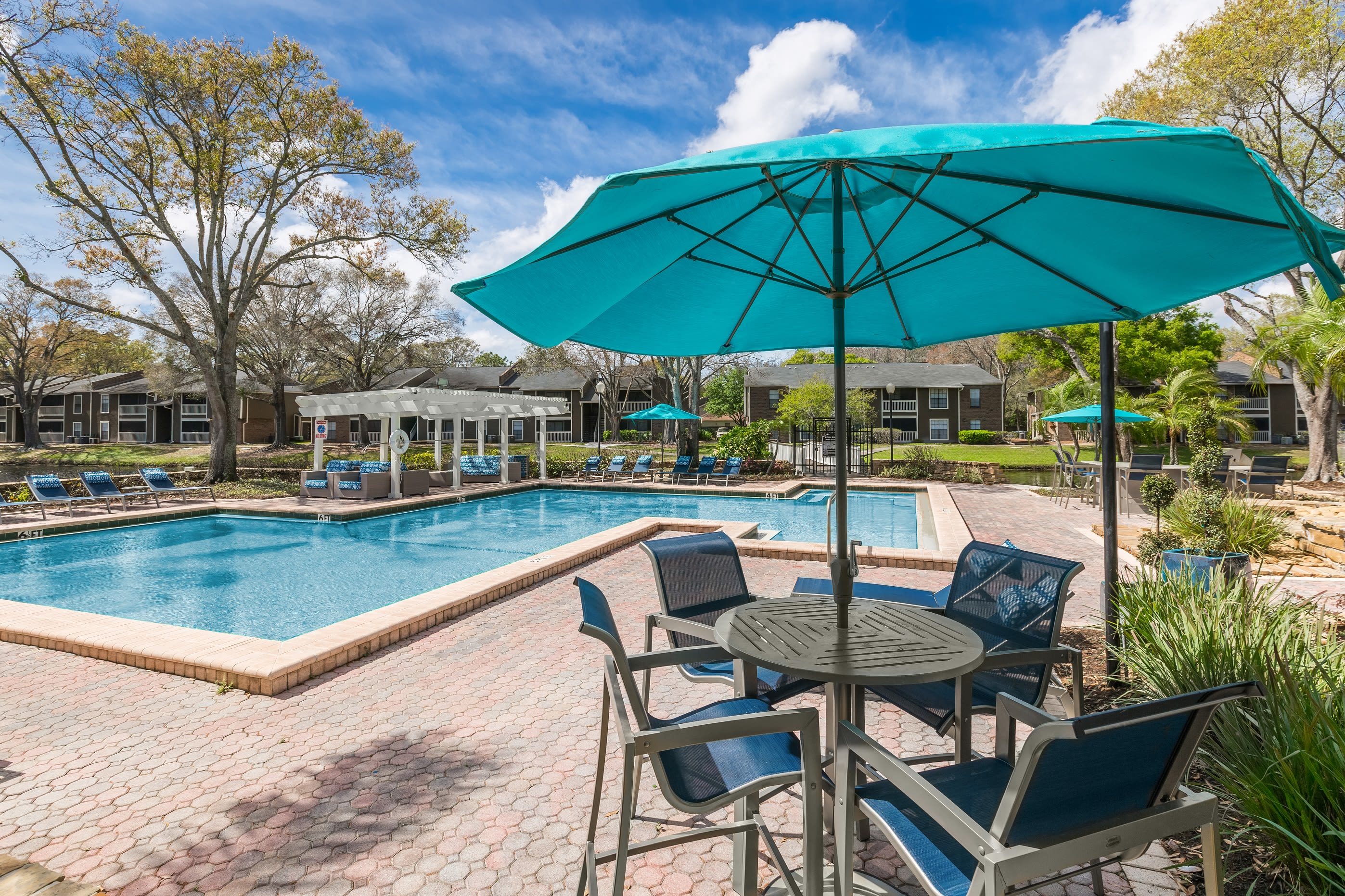 Outdoor swimming pool at Avion at Carrollwood in Tampa, Florida