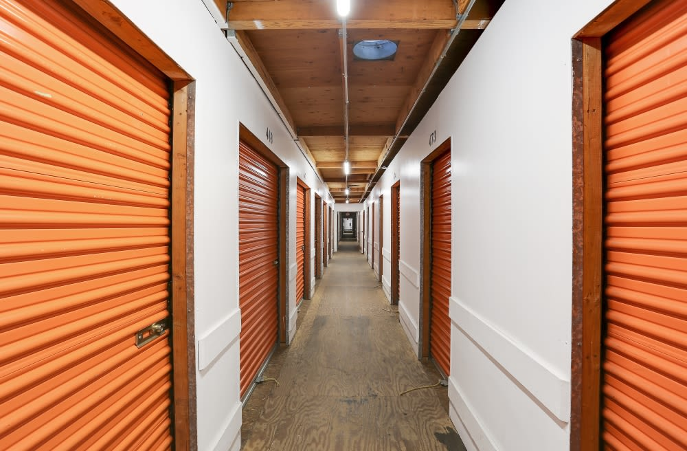 Clean Hallways for Interior Storage Units in A-1 Self Storage in San Diego, CA
