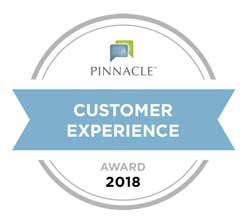 Pinnacle Customer Experience Award 2018