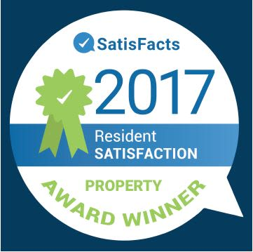 2017 SatisFacts Resident Satisfaction Property Award Winner