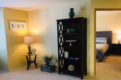 Private apartment at Sagebrook Senior Living at Bellevue