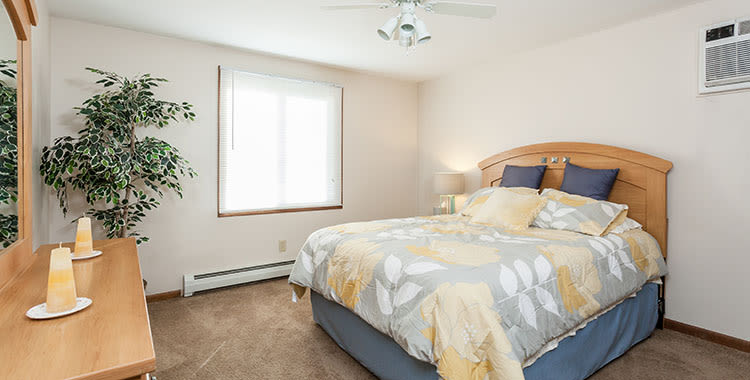 Well decorated bedroom at Paradise Lane Apartments home in Tonawanda