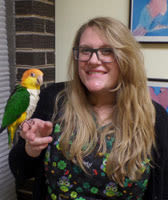 Allison at Midwest Bird & Exotic Animal Hospital