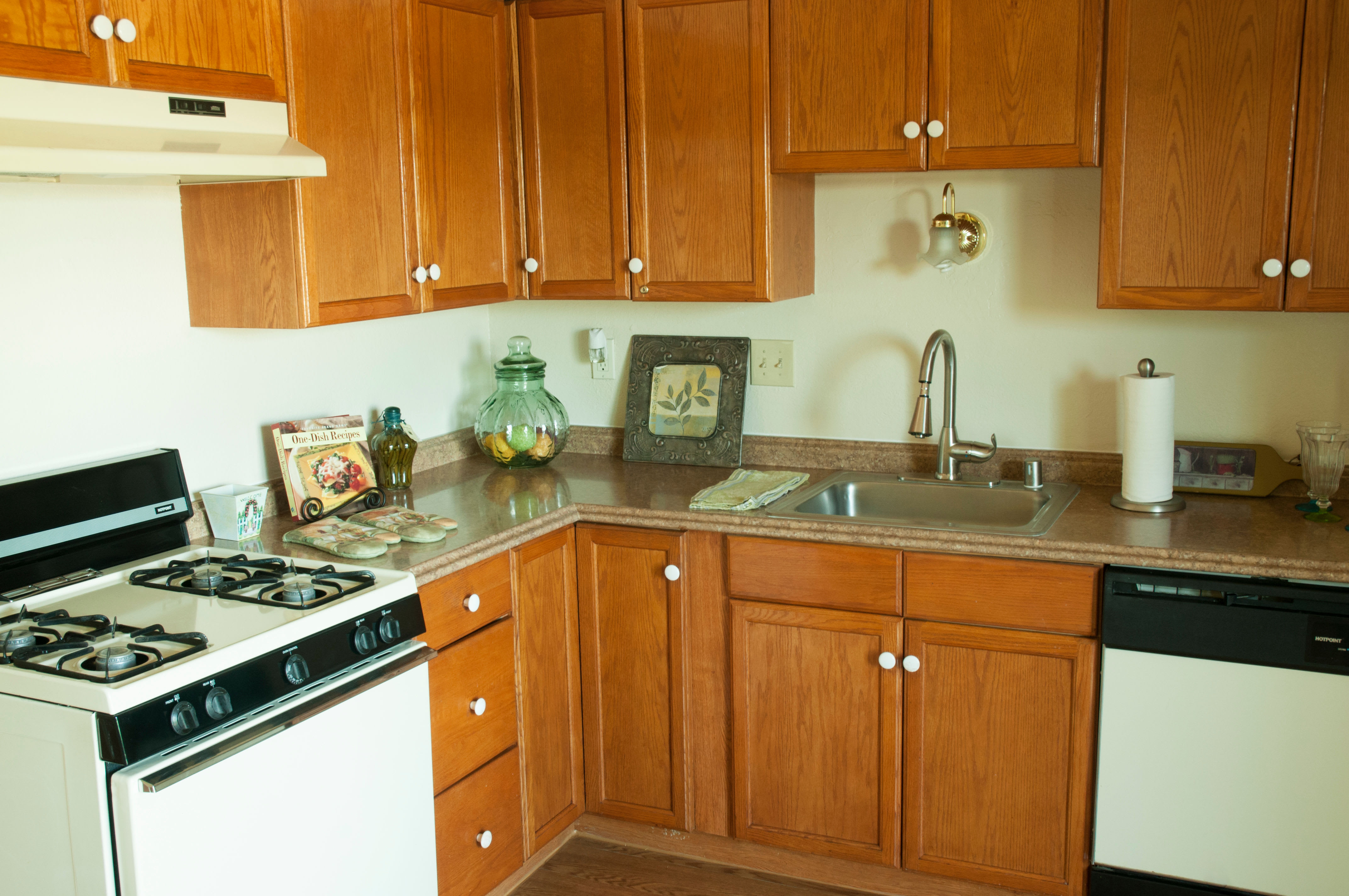 Kitchen at apartments in Antioch, California
