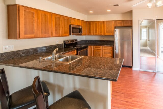 Carmel Woods offers a quiet kitchen in Modesto, California