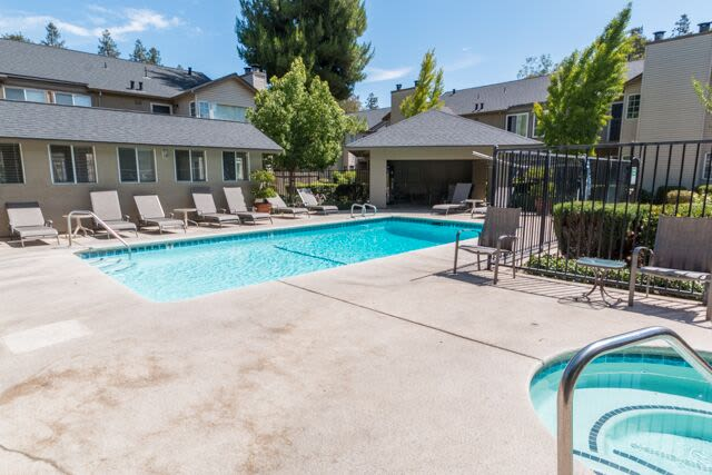 Swimming apartments at Carmel Woods in Modesto, CA