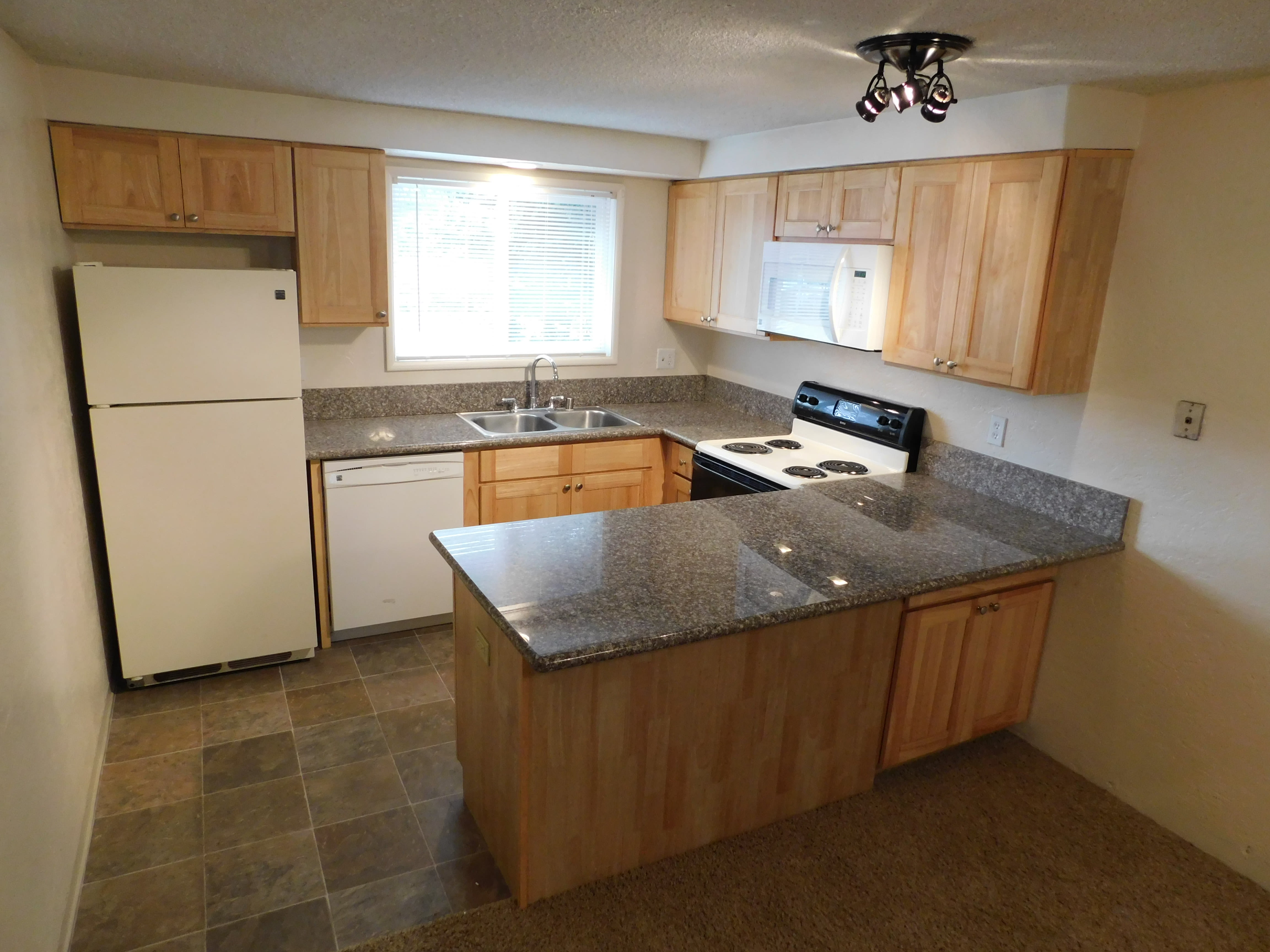 Modern kitchen at Chalet in Springfield, Oregon