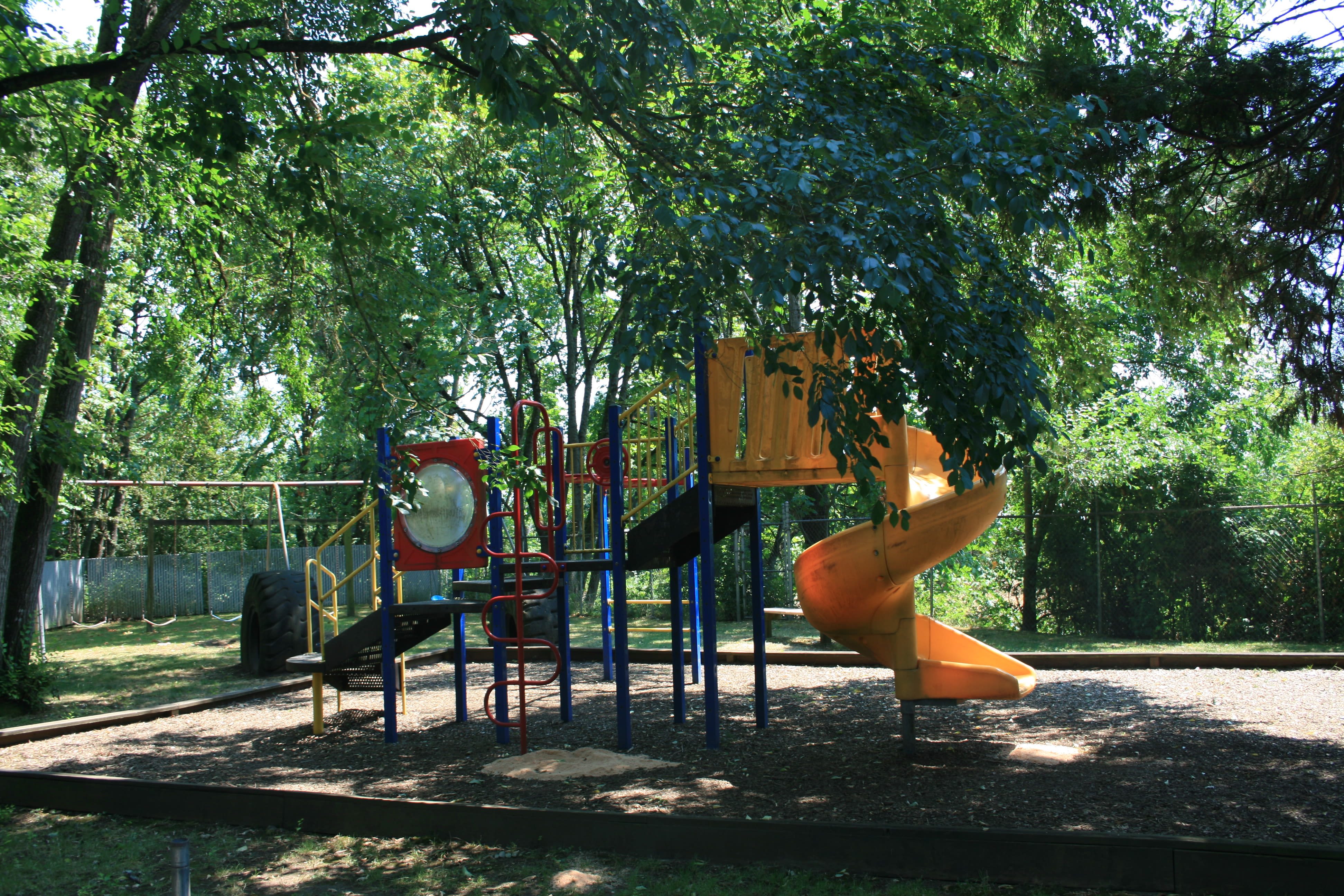 Playground at Fountain Court in Springfield, Oregon