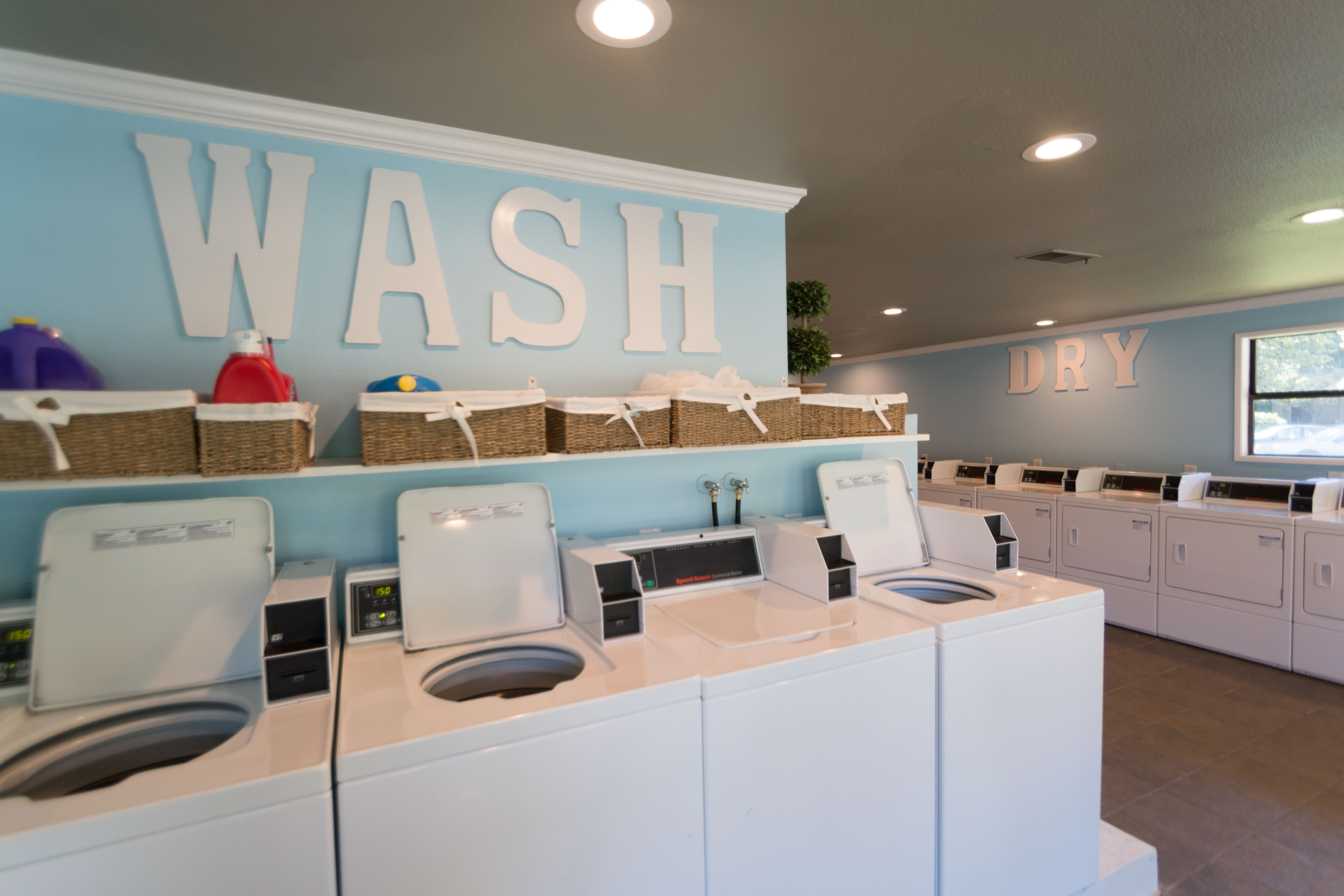 Laundry facility at Oakbrook Apartments in Vancouver, Washington