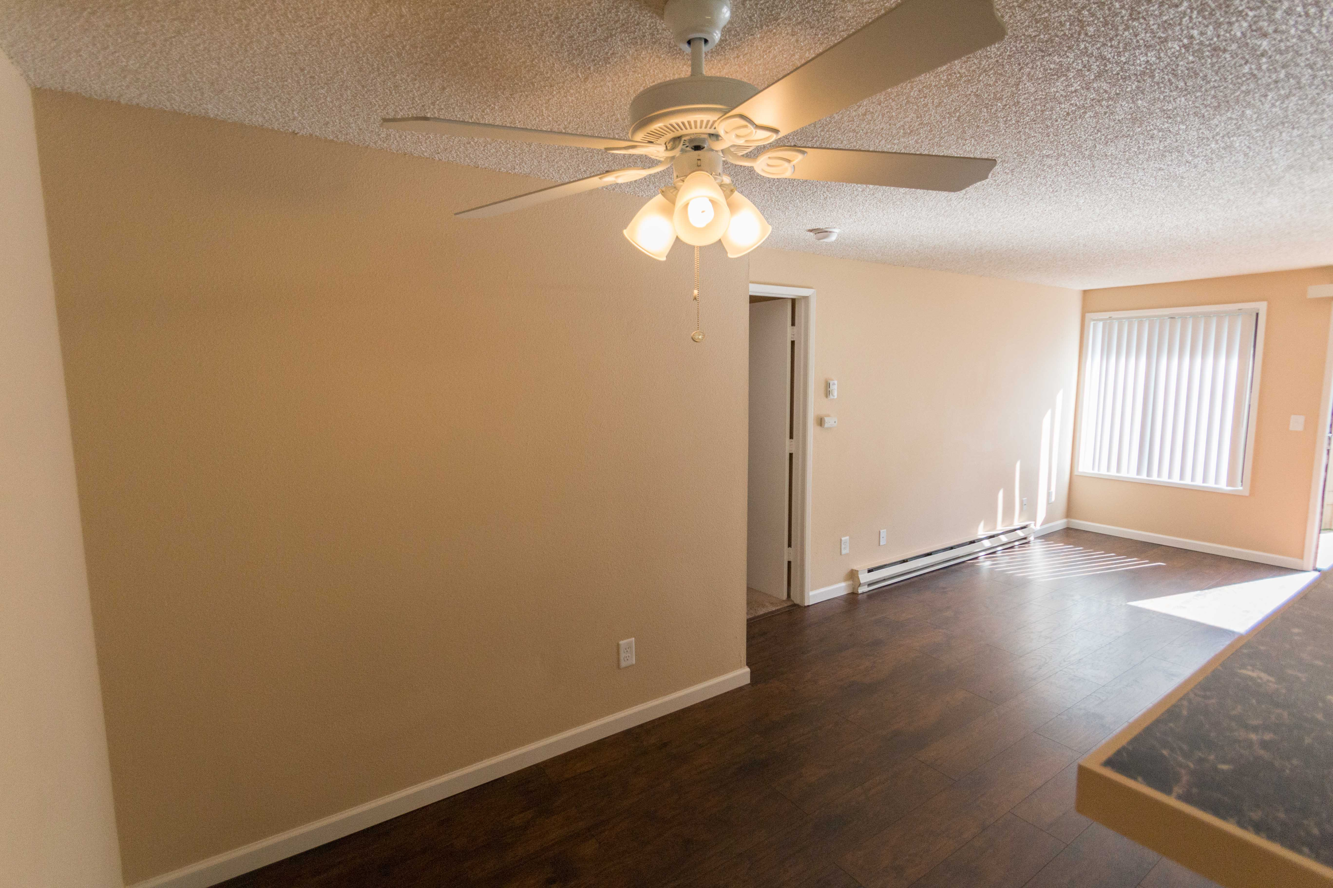 Spacious living room at apartments in Vancouver, Washington