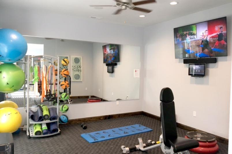 Fitness center inside of Millstone of Noblesville