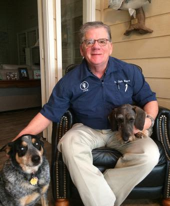Dr. Dale Rasco at animal hospital in Corpus Christi