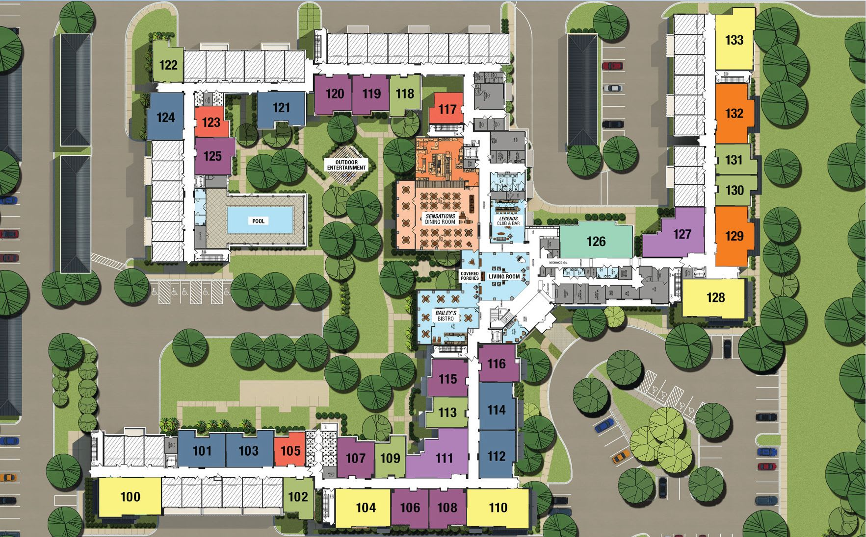 Senior living community in Columbia SC site plan