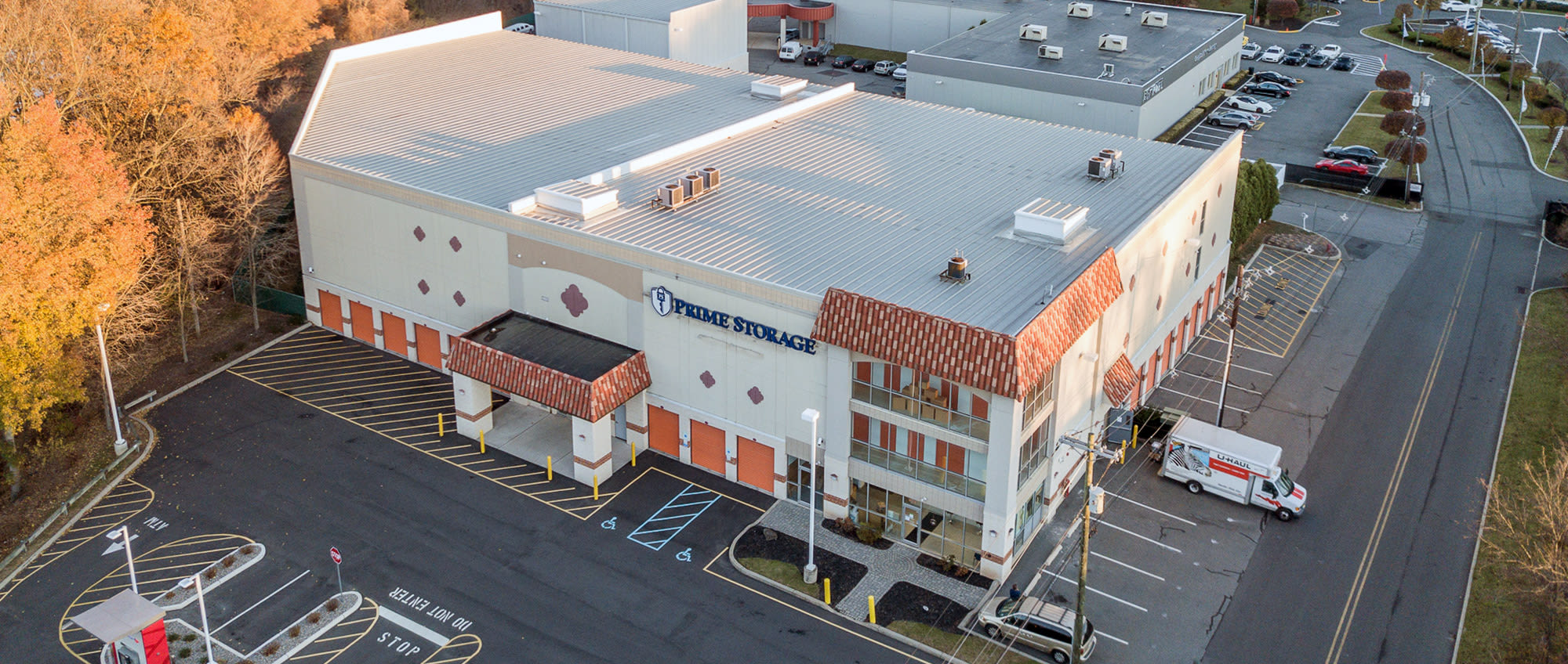 Aerial view of Prime Storage in Saratoga Springs, NY